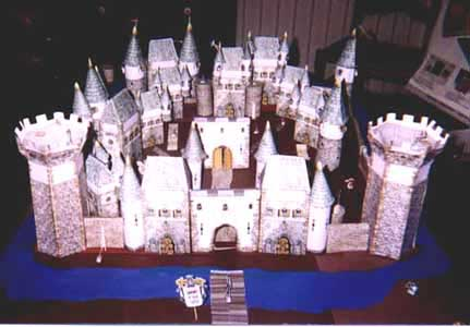 Fantasy Castle paper model project