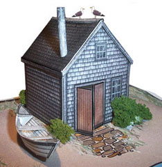 paper model of the Fishing Shack