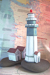 Grays Harbor Lighthouse paper model