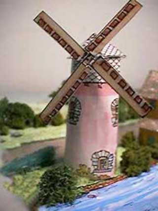 The Grist Mill Paper Model