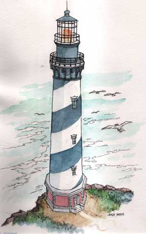 Cape Hatteras  Lighthouse-Artwork