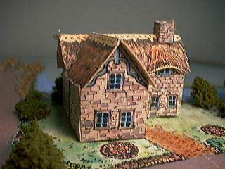 picture of the Honey Pot Cottage paper model