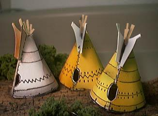 Paper model of the Indian Village