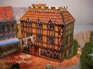 The Red Lion Inn paper model