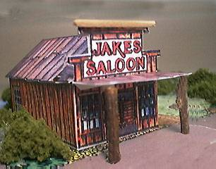 paper model of Jakes Saloon