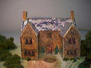 17th Century Manor House paper model