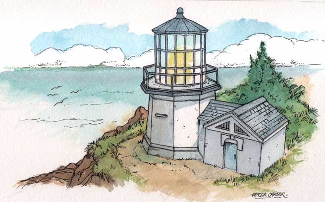 Artwork for Cape Meares paper model