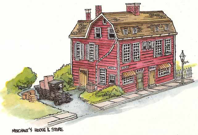 Merchant-house paper model