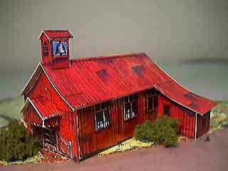 Mission Church paper model