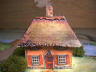 paper model of the Mud Cottage