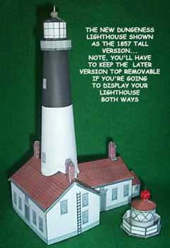New Dungeness Lighthouse paper model