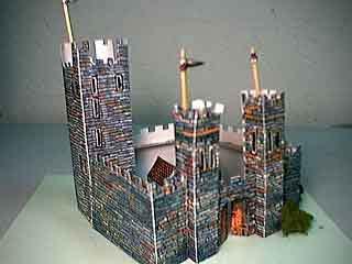 Norman Castle paper model