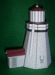 Plymouth Lighthouse paper model