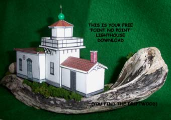 Point No Point Lighthouse paper cardmodel