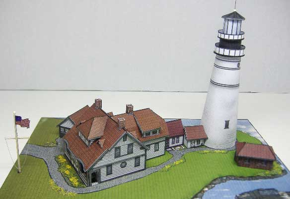 Portland Head Lighthouse paper model