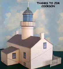 Pt Loma Light House model