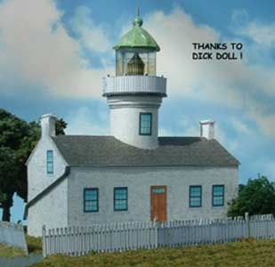 Point Loma Lighthouse paper model