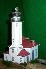 Point Wilson Lighthouse paper model