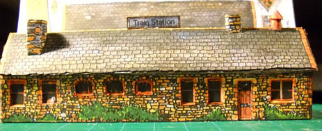 paper model of English Railroad Station at Beamish Open Air Museum