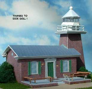  Paper model Lighthouse at Santa Cruz California