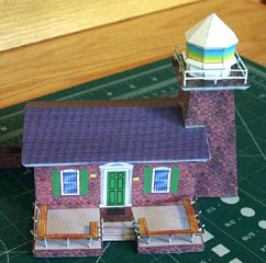 paper model of the Santa Cruz Lighthouse