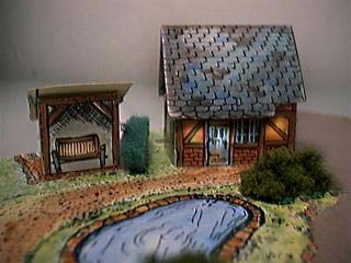 paper model of the Shepherd's Cottage