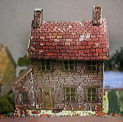Fiddlersgreen downloadable paper model of a little Slate and Stone House
