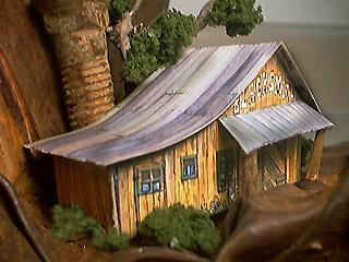 Blacksmith Shop paper model