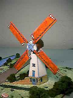 The Smock Windmill paper model