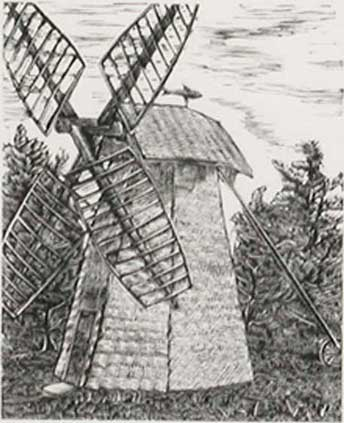 Sketch of Old Smock Mill