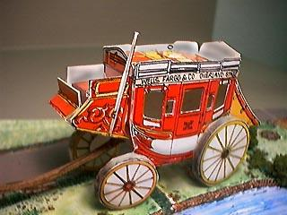 assembled paper model Stage Coach