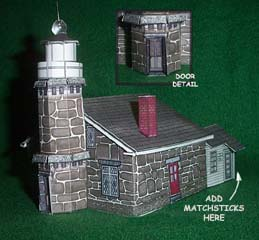 Stonington Light House paper model