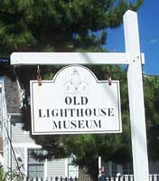 Stonington Lighthouse sign