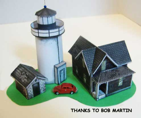 Straitsmouth Harbor Lighthouse Paper Model
