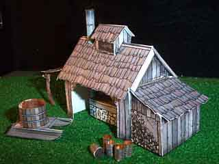 New England Maple Syrup Sugar House paper model
