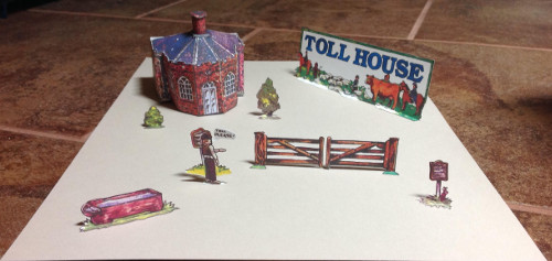 Paper model build by Dennis Brooks of Fiddlersgreen Tollhouse