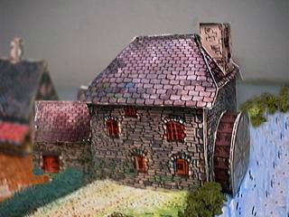 English watermill paper model