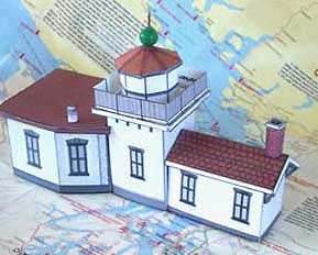 West Point Lighthouse paper model
