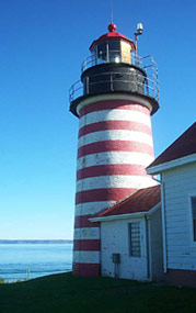 West Quoddy Lighthouse paper cardmodel