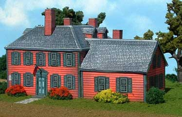 built paper model of Wrights Tavern