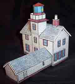 paper model of the Yaquina Bay Lighthouse