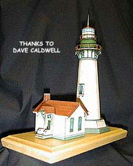Yaquina Head Lighthouse paper model