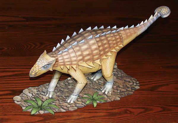 Ankylosaurus paper model
