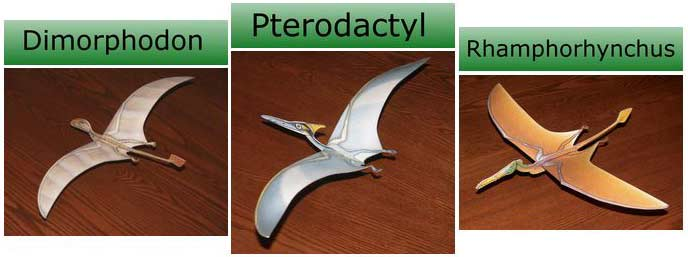 picture of pterosaurs for link to flying dino page