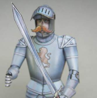 paper model of a knight
