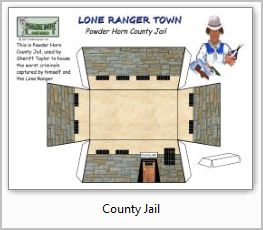 Lone Ranger County Jail paper model building