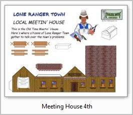 Lone Ranger Meetin House paper model building