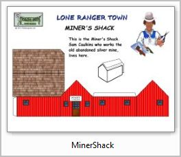 Lone Ranger Miners Shack paper model building