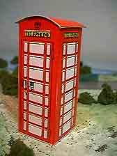 London Phone Box paper model