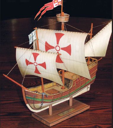 beta build of the Pinta paper model ship